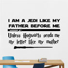 Harry Potter Star Wars I Am A Jedi Like My Father Before Me Unless Hogwarts S...