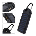 8000mAh 2 In 1 Solar Power Bank Powered Charger Waterproof Dual USB Output LED