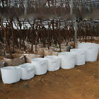 Hot Round Fabric Pots Root Container Plant Pouch Grow Bag White 13 Sizes