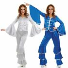 Adult Ladies Dancing Queen Costume Abba Outfit Blue or Silver