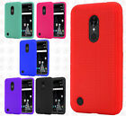 For LG Rebel 2 L57BL Rugged Rubber SILICONE Soft Gel Skin Case Cover Accessory