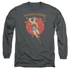 DC Comics Wonder Circle Mens Long Sleeve Shirt Charcoal