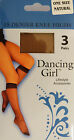 Dancing Girl One Size Bargain Pack of 3 pairs 15 Denier Knee Highs