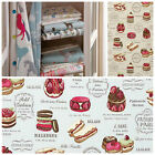 Clarke and Clarke Studio G Sketchbook Patisserie Curtain Fabric Collection