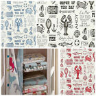 Clarke and Clarke Studio G Sketchbook Seafood Curtain Fabric Collection