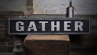 Gather Kitchen Wall Decor - Rustic Handmade Vintage Wooden Sign ENS1000837