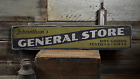 General Store, Custom Shop Owner Name - Rustic Distressed Wood Sign ENS1001397