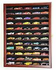 60 Hot Wheels 1:64 Scale Diecast Display Case Cabinet Wall Rack-  LED LIGHTS