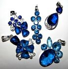 SELECTION OF BLUE GEMSTONE & SILVER NECKLACES LADIES GIFT IDEA FAST UK DELIVERY