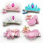1PCS Mixed Design Crown Heart Bear Mickey Hair Clips Accessories For Girls 1 Set