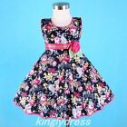 NEW Baby Toddle Girl Kid Spring Summer Dress Navy Blue Hot Pink SZ 12M-3T Z417