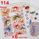 Girls Party Favours 114 toy 6x Loot Bag kids birthday lipgloss crystals necklace