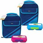 Sistema Food Storage Container Small Split with Insulated Lunch Cooler Bag