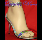 "Fresh by Pleaser - Shiny Sandals 4"" Clear Stiletto Heel - Six Colours"