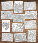 MULTI VARIATION ADULT COLOURING 12 OR 24 CARD PACKS FOR BIRTHDAYS & GREETINGS