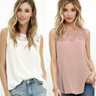 Fashion Women Summer Lace Vest Top Sleeveless Blouse Casual