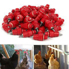 100pcs Little Chicken Duck Hen In Poultry Water Nipple Drinker Feeder Screw