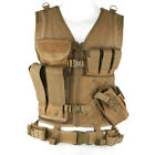 Condor Crossdraw Military Tactical Vest MOLLE Army Patrol Airsoft Coyote Brown