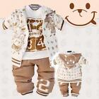 NWT baby toddler smiley bunny number boy outfit 3pc set