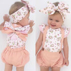 Baby - US Stock Newborn Infant Baby Girl Floral Romper Jumpsuit Bodysuit Outfit Clothes