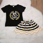 Big/Little Sister Matching Top T-shirt Newborn Baby Girl Romper Dress Outfit USA