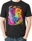 Neon Marilyn Monroe T Shirt Portrait Rainbow Mens Sizes Small to 6XL and Tall