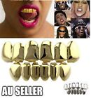 18k Gold Plated Hip Hop Teeth Grillz Caps Top & Bottom Grill Set 3 Colors