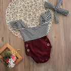 Baby - US Newborn Toddler Baby Girl Clothes Romper Bodysuit+Headband Sunsuit Outfit Set