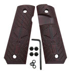 1911 G10 Grips Free Screws Full Size Government Skull Style Ambi Cut H1-SK