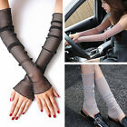 4 Colors Lady Comfort Outdoor Summer UV Protection Long Driving Glove Footmuffs