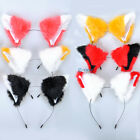 Cat Fox Ears Long Fur Mixed Color Hair Headband Gift Neko Gift Cosplay