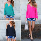 Women Chiffon Blouse Shirt Tops Summer Long Sleeve Shirt Ladies Fashion Tops New