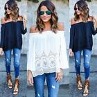 Fashion Women Summer Chiffon Blouses Top Off Shoulder Loose Casual T-Shirt Tops