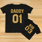 US Stock Family Matching Outfits DADDY MOMMY KID BABY T-shirt Couple Clothes