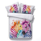 Zebra HD Print Duvet Cover Pillow Case Animal Quilt Cover Bedding Set All Sizes