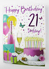 Happy 21st Birthday Card For Her Girls Ladies Age Verse Quality Milestone Pink