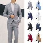 Men Formal Wedding Bridegroom Suit One Button Fit Jacket Tuxedos Coat Pants Plus