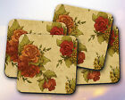 Pattern // Flowers, Floral, Roses, Blooming, Vintage, Sepia // Coaster [NEW!] 30