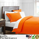 Finest 100% Cotton 4pc Bed Sheet Set: Fitted Flat Sheet Pillowcases Queen Size