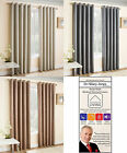 New Blockout Woven Thermal Ring Top Eyelet Curtains With Textured Fabric Design