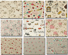 Clothes Vintage Daisy Style Cotton Linen Fabric Patchwork Sewing Handmade DIY