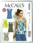 McCalls #6565 Lined Tops with Variations Pattern Sz 6-14 UC