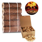 100 Pack of Natural Eco Firelighters & x5 Long Lasting Pizza Oven Fuel Logs