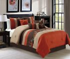 Comforters Sets - Chezmoi Collection 7piece Luxury Leaves Scroll Embroidery Bedding Comforter Set