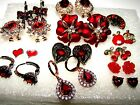 RED EARRINGS, GORGEOUS SELECTION CHOICE OF STUD SLEEPER STYLE & LEAVERBACK NEW
