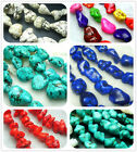 """8x14mm,10x16mm,5x13mm Blue  Red Irregular Turquoise Spacer Beads Gems 16"""""""