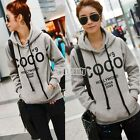New Womens Hoody Sweatshirt Hoodies Long Sleeve Pullover Jumpers Sweater Tops TU