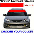 "60"" x 10"" Windshield Banner - Choose Color! vinyl sticker decal Sun Strip Visor"