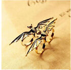 Retro Unisex Vampire Bat Wing Two / Double Finger Stretch Adjustable Ring Vogue