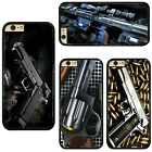 Gun Pistol Sniping Rifle Pattern Hard Phone Case Cover For iPhone / Samsung